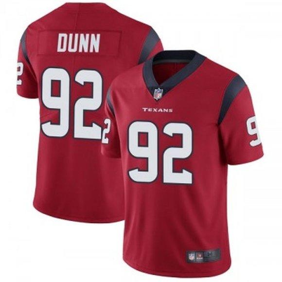 Texans Brandon Dunn Red Jersey